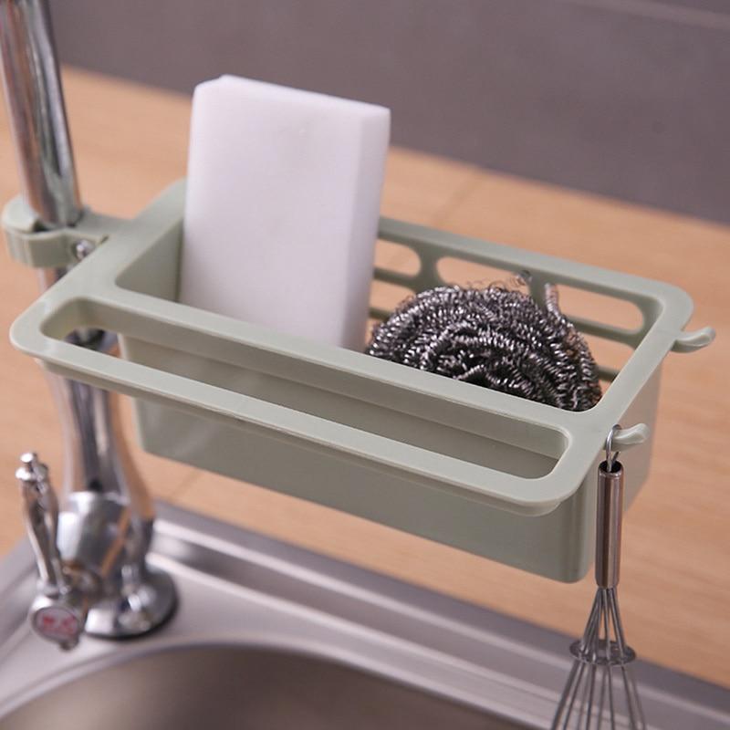 1PC de plástico plato drenaje cepillo para jabón organizador esponja para fregadero de cocina de almacenamiento en Rack estante de toalla de cocina accesorios de baño
