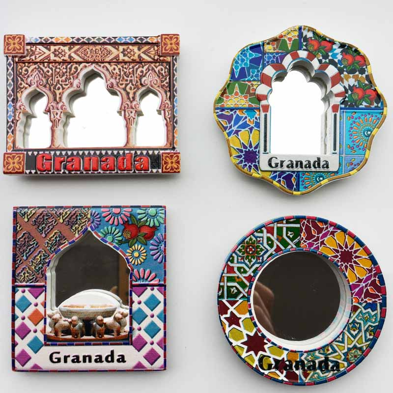 Fridge Magnet Souvenir Granada Spain Oman Hand Painted Resin Refrigerator Magnets Sticker Country Travel Craft Home Decor Gifts