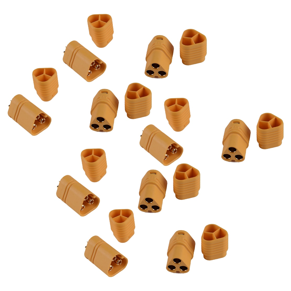 Amarillo, 5 pares, macho y hembra de 3,5mm, conectores tipo bala, conector de 3 polos para modelo RC, accesorios ESC, MT60 MT-60 60AMP