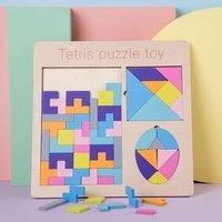 puzzles magic tangram children wooden educational game hobby children jigsaw tetris cubes puzzles kids toy children gifts