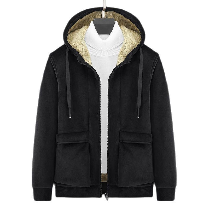 Осень-зима 2021, новинка, Мужская Флисовая Куртка с капюшоном, Мужская теплая утепленная Двусторонняя одежда, повседневная мужская флисовая к...