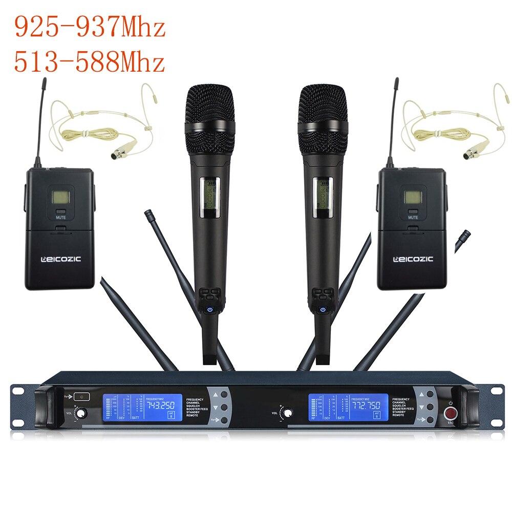 Lecozic-microfono profesional para Singer, dispositivo inalámbrico De 925-937/513-558 Mhz, UHF, para escenarios,...