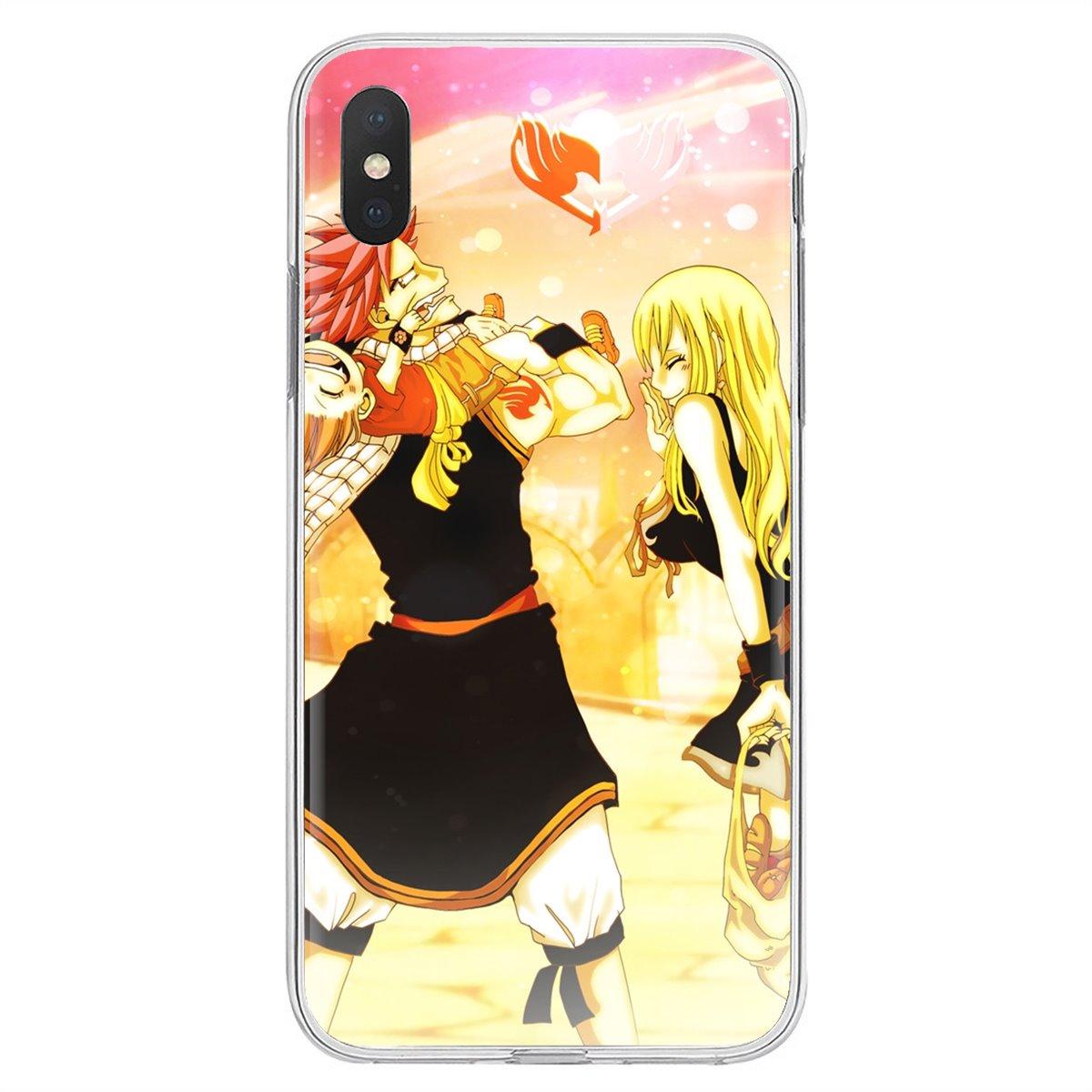 Para Xiaomi Redmi 4A 7A S2 Nota 8 3S 3S 4 4X4 5X5 6 Plus 7 6A Pro teléfono móvil F1 cola de hadas Natsu y Lucy papel de silicona cubierta de la bolsa