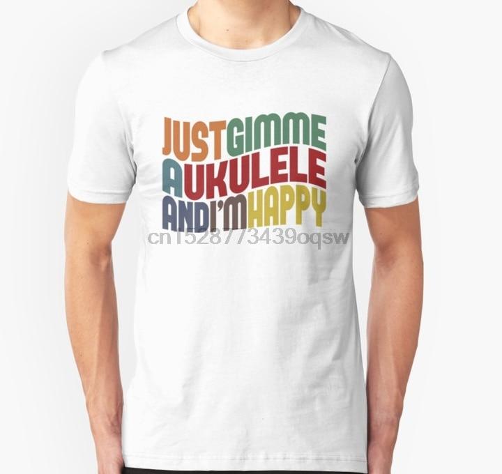 Camiseta de manga corta para hombre, Camiseta ajustada con ukelele para mujer