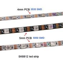 Carte graphique DC5V 4mm/5mm/7mm   SK6812 5050, SMD 3535, 60/144 pixels/m IP30, bande LED, livraison gratuite