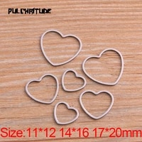 pulchritude 20pcs 3 size heart charm stainless steel pendant open bezel hollow pressed resin frame mold bezel diy jewelry making