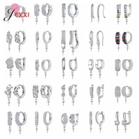 new arrivals real 925 women earrings findings high quality earrings components for diy jewelry hand making original silver