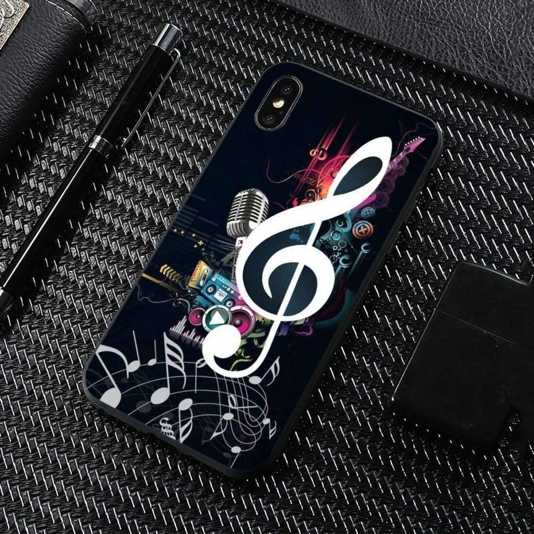 Para BQ Aquaris C U2 U V X2 X Lite Pro Plus E4.5 M4.5 X5 E5 4G M 2017 moderna línea de arte música nota logotipo de la caja de la piel del silicón