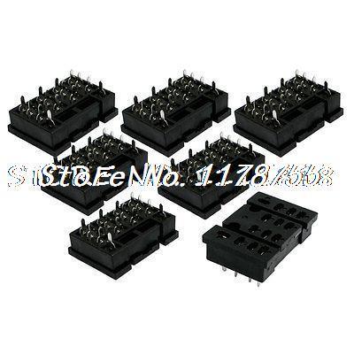 7 шт. x LY4-A2 14 Pin PCB Power основание релейного разъема для 4PDT LY4NJ HH64P