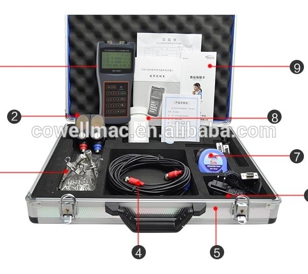Débitmètre à ultrasons tenu dans la main capteurs à pince 50mm - 700mm