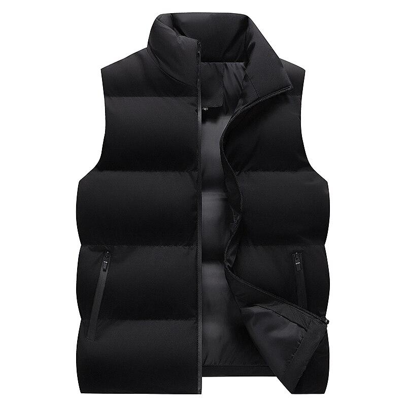 Корейский мужской жилет большого размера на осень и зиму, новый пуховой жилет из хлопка, однотонный спортивный жилет для отдыха, утепленный ...