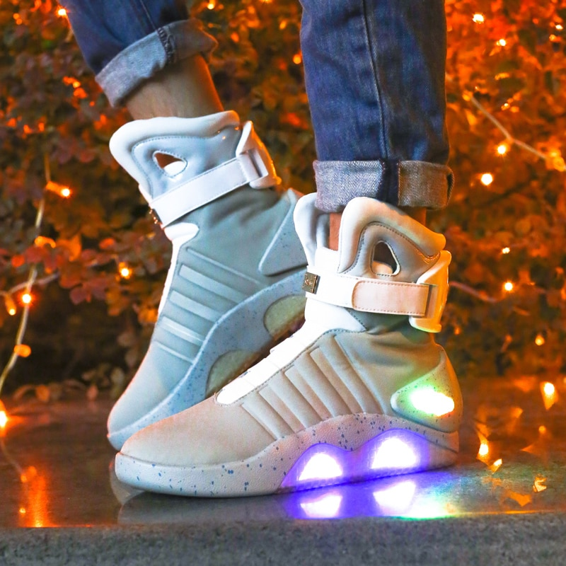 JawayKids 2019 New Boots for Men,Women,Boys and Girls USB chargeable Light Up Shoes Back to Future Women Boots enlarge