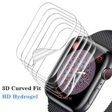 Protector de pantalla transparente, película protectora completa para Apple Watch 6 SE 5 4 40MM 44MM, vidrio no templado para iWatch 3 2 1 38MM 42MM