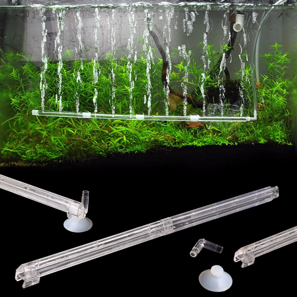 De aire de acuario Infusor de burbuja de tubo de plástico de oxígeno del tanque de peces difusor para bomba de aireador de oxígeno infusor accesorios de la bomba de aire