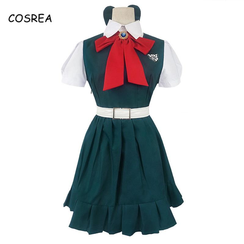 Anime Danganronpa 2 Sonia Nevermind Cosplay Costume Shirt Dress Full Set Uniform Outfits Wig Hair Womens Clothing Halloween