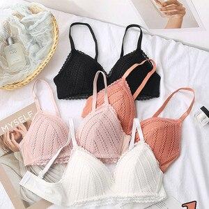 Sexy Lace Wireless Women Bra Adjusted Comfort Female Underwear Push Up Female Bralette Brassiere