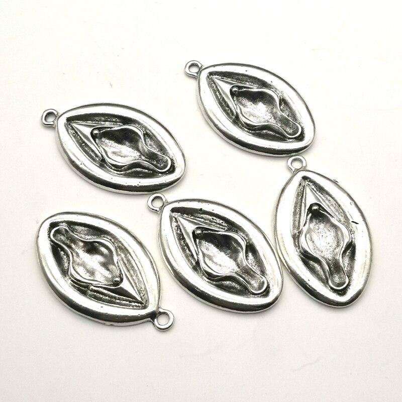 40*25 мм 4 шт притягивающие для женских гениталий подвески для женщин Античные Подвески DIY тибетское серебро ручной работы цветные ювелирные изделия