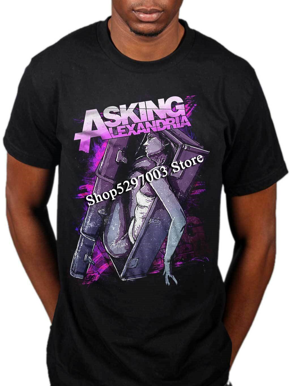 Asking Alexandria ataúd camiseta púrpura ojos imprudente álbum nuevo Unisex Tops Tee camiseta