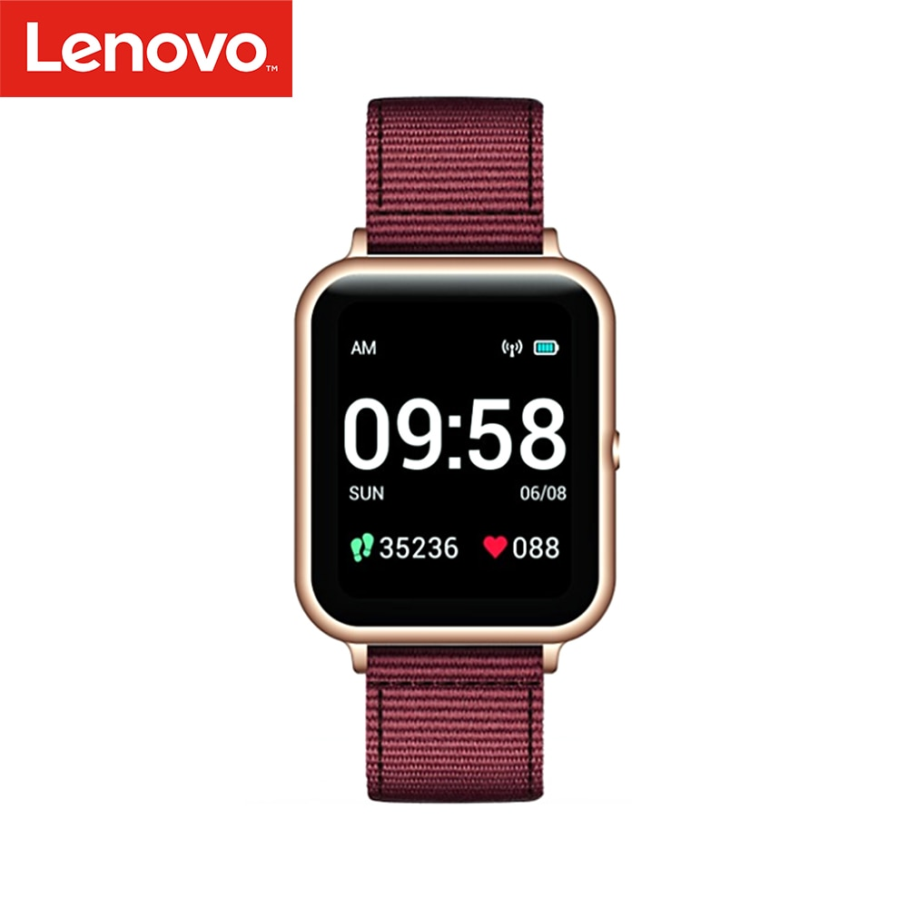 Rastreador de Fitness Monitor de Freqüência Lenovo Relógio Inteligente 240×240 Pedômetro Calorias Sono Cardíaca Smartver s2 1.4