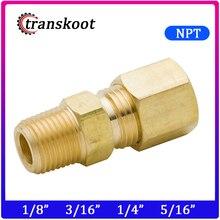 Tuyau en laiton à Compression   Raccord de Tube en laiton avec tuyau OD 1/8