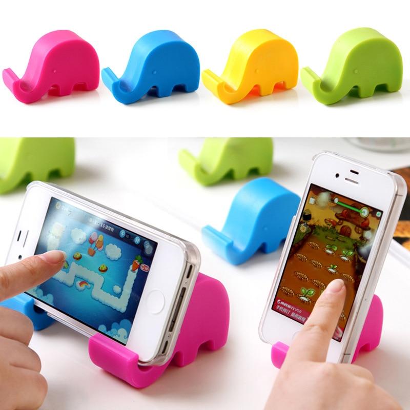 Adorable Mini elefante soporte de mesa para escritorio soporte de teléfono para teléfono móvil tabletas para Xiaomi Huawei para Apple TSLM1