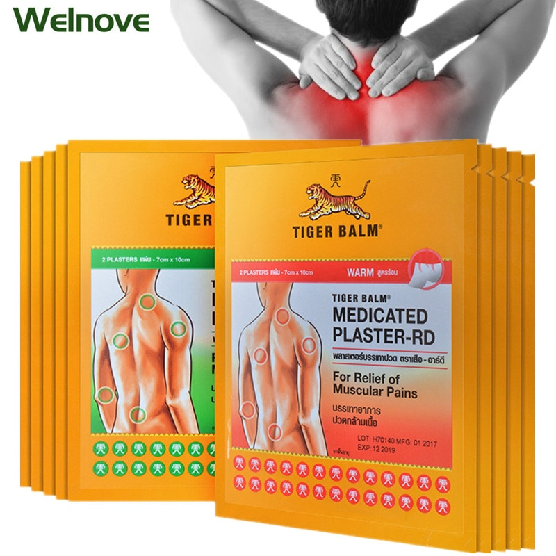 6Pcs/3Bags Thailand Tiger Balm Plaster Back Neck Joint Arthritis Chinese Natural Herbs Sticker Pain Relief Patch Analgesic Cream