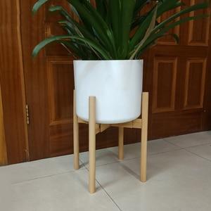 Adjustable Stand Holder Rack Wooden Sturdy for Flower Potted Indoor Outdoor SCVD889