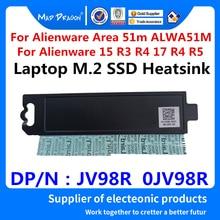 NEUE original Laptop neue M.2 PCI-E SSD Unterstützung Halterung Adapter Für Dell Alienware Area 51m ALWA51M m.2 SSD Kühlkörper JV98R 0JV98R
