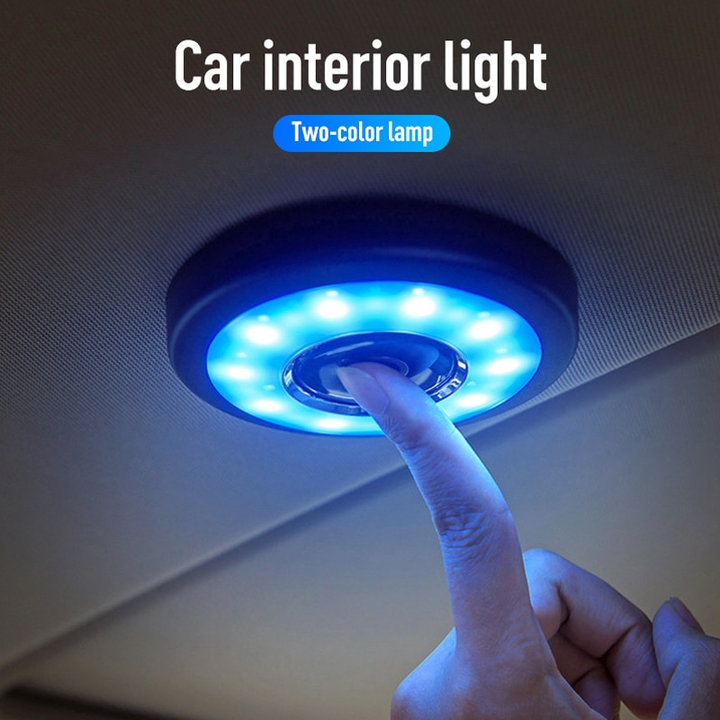 Luz de lectura de coche LED lámparas de noche Auto asiento trasero techo Techo Luz Kits para techo interior de coche lámpara magnética para accesorios de coche