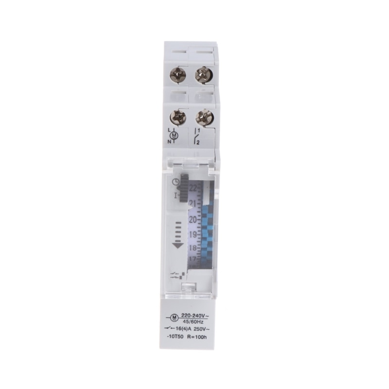 110-240V 16A 15 Minutes Mechanical Timer 24 Hours Programmable Din Rail Timer Time Switch Relay Meas
