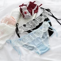 new japanese girls panties sexy lace panties fashion lace up comfort briefs low waist seamless underpants female lingerie