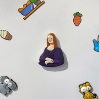 refrigerator magnetic stickers world famous paintings large size decoration 3d resin magnets fridge magnets home decoration gift