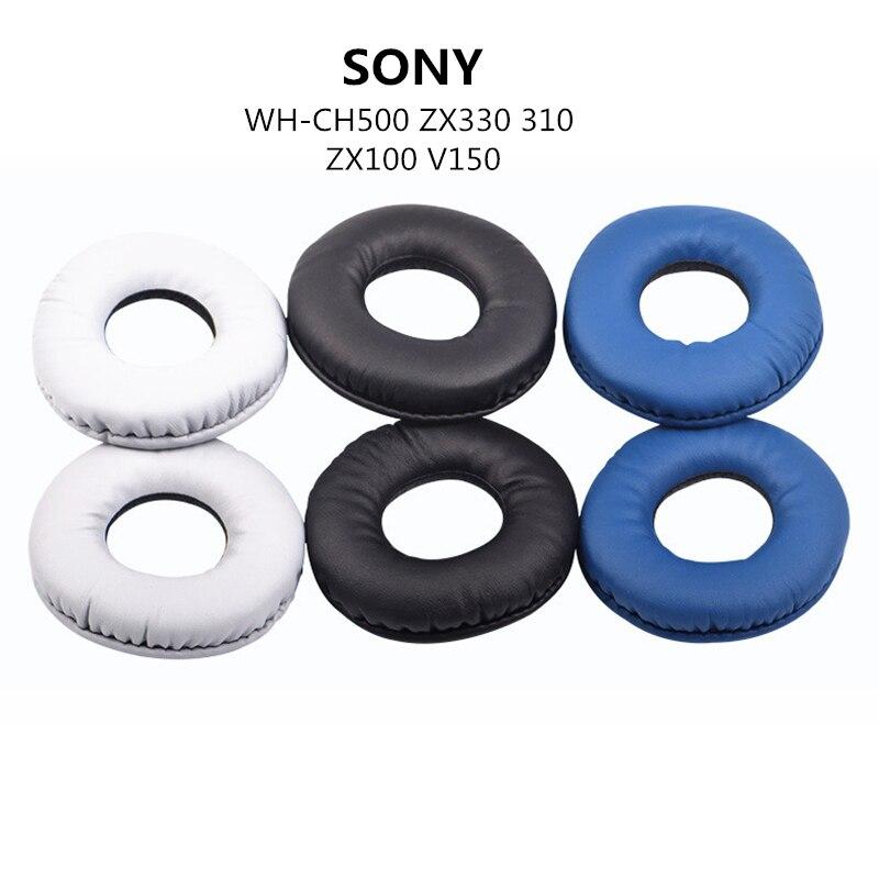 2 pçs espuma almofadas de ouvido almofada earpad macio substituição para sony WH-CH500 zx330 310 zx100 v150 fone ouvido