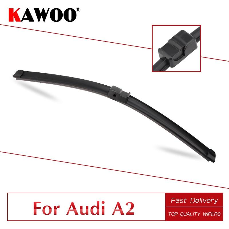 "KAWOO para Audi A2 30 ""2000 2001 2002 2003 2004 2005 accesorios de coche limpiaparabrisas cuchillas naturales de ajuste con goma patillas laterales tipo brazos"