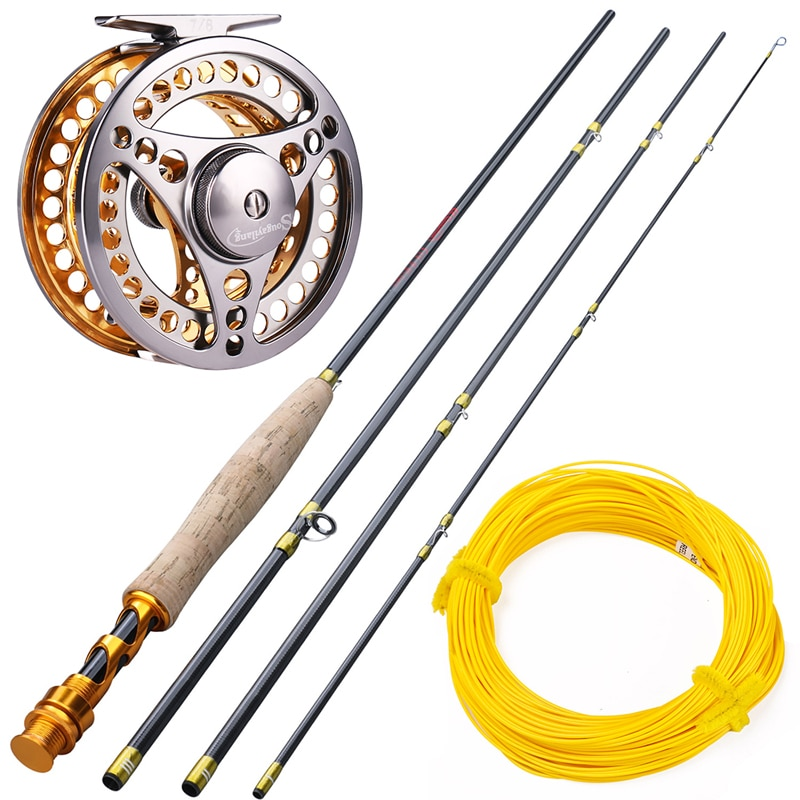 2.7M Fly Rod and Fly Reel Combo with Fishing Line Set Fishing Rod Tackle Pesca Fly Fishing Rod Set #5/6  Fly Fishing Rod