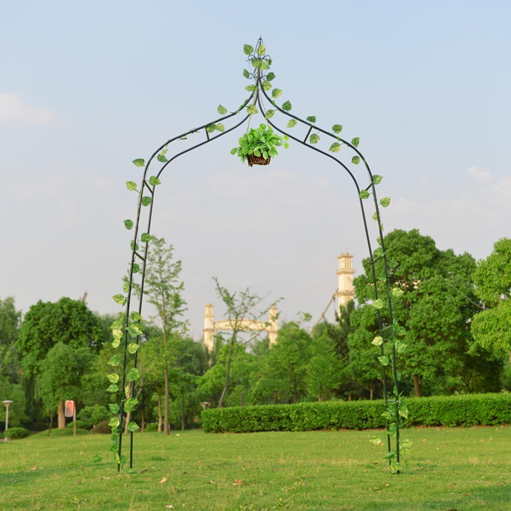 حديقة قوس معدني لتسلق النباتات حديقة أربور الديكور تسلق العريشة موصل # W0