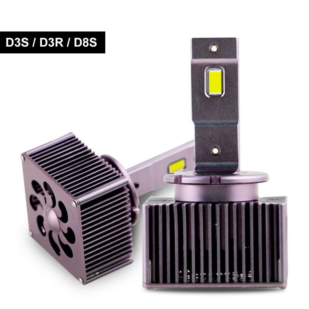 2Pcs D1S D3S LED Headlight 70W 10000LM D2S D4S Car Light Super Bright 6000K White D2R D4R D5S D8S Car Light Bulb