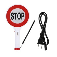 1pc Rechargeable Sign Board Useful LED Traffic Sign Premium Warning Sign Light
