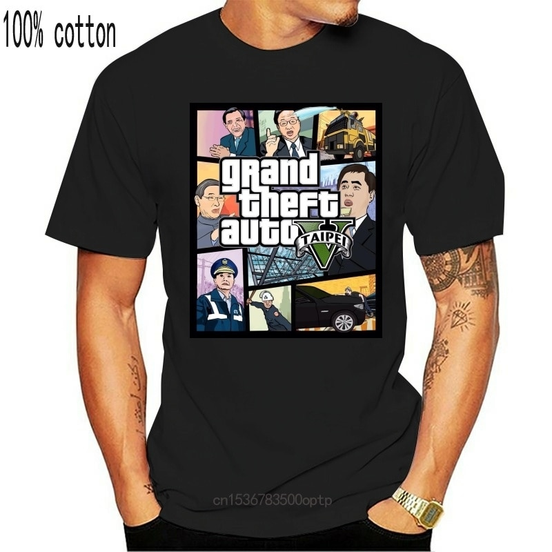 New Grand Theft Auto 3D Men T Shirt GTA 5 T-shirt funny video game Tee shirt men Grand Theft Brexit Britain Merkel Trump tshirt