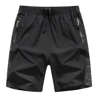 2021 fashion mens summer plus size quick drying breathable breeches bermuda mens zipper pocket plus size mens beach shorts