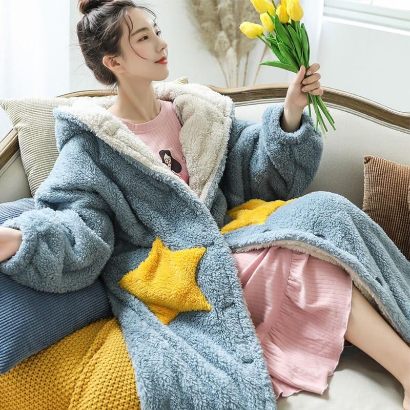 بطانية صوف ثقيلة ، سترة شتوية بغطاء للرأس ، أريكة ، أكمام ، ناعمة ، دافئة ، سميكة ، قطيفة ، طويلة ، غطاء للرأس