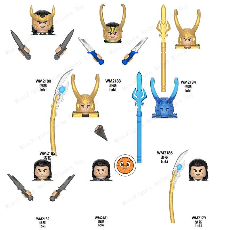 WM6118 Famous Movie Avengers Loki Building Blocks Single Sale Series Bricks Action Figures Educational Toys For Children Gifts