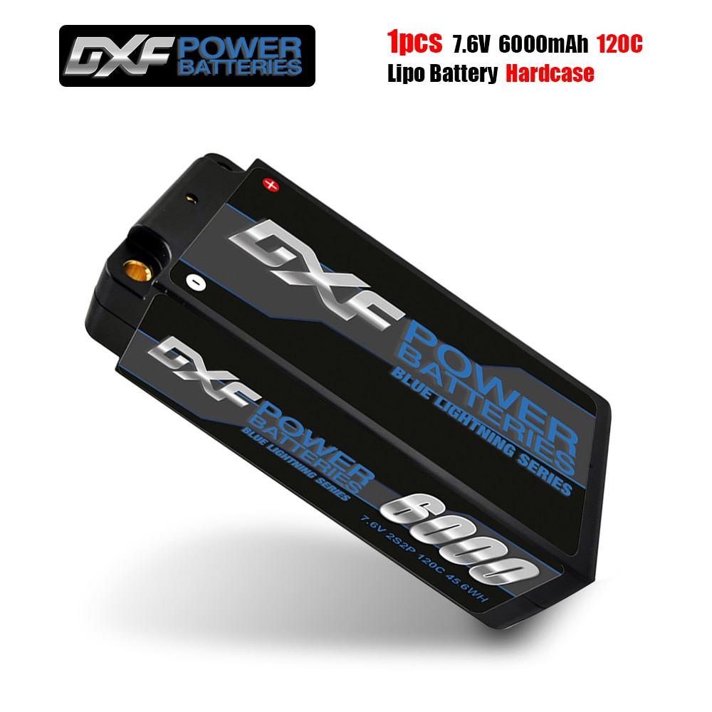 DXF Lipo Battery 2S Shorty Lipo 7.6V 6000mah 120C  with 4mm Bullet Competition Short-Pack for 1/10 Buggy enlarge