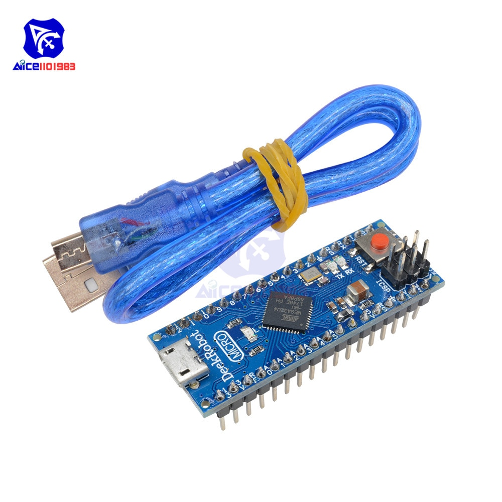 diymore Microcontroller 5V 16MHz ATmega32u4 Module Micro USB Interface Board with USB Cable for Arduino Leonardo