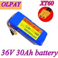 Original XT60 interface 36V battery 10S4P 30Ah battery pack 500W high power battery 42V 30000mAh Ebike electric bike BMS