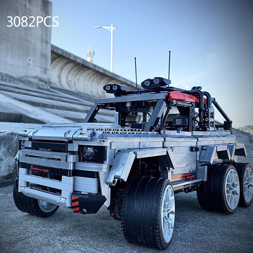 110 Schaal Technics Bouwsteen 6X6 Cross Country Pickup Truck Model 2.4Ghz Radio Afstandsbediening Voertuig Rc auto Bricks Speelgoed