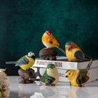 american simulation bird resin crafts ornaments home living room porch tv cabinet decorations
