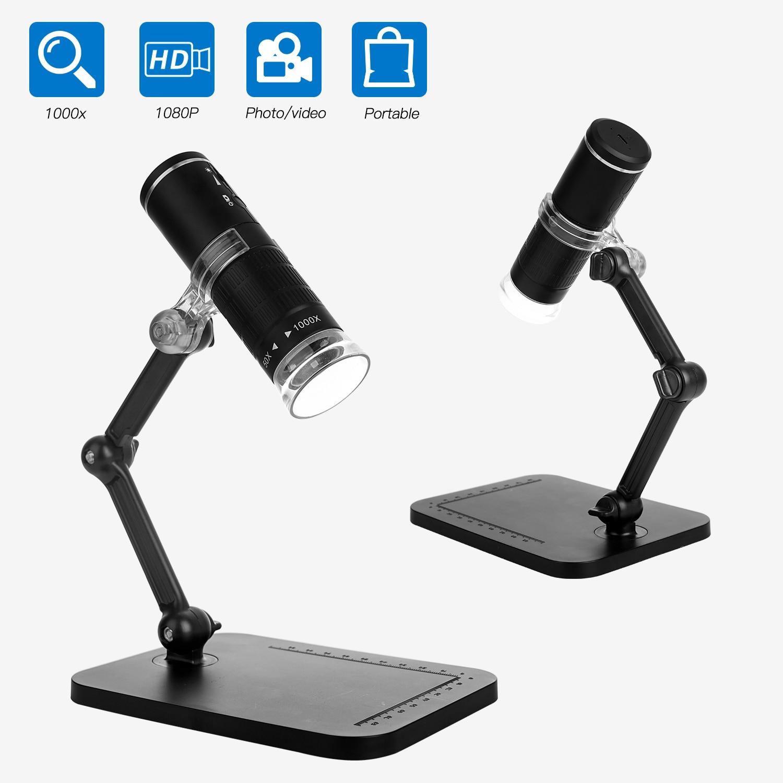 Microscopio electrónico Industrial F210 50-1000X, 2 millones HD, Digital, móvil, WIFI, microscopio, lupa portátil