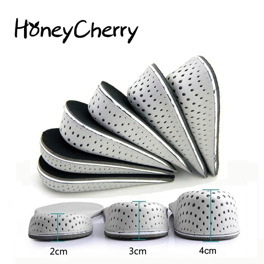 1 Pair Shoe Insoles Breathable Half Insole Heighten Heel Insert Sports Shoes Pad Cushion Unisex 2-4c