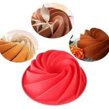 9 pouces forme en spirale de qualité alimentaire Silicone gâteau moule Pan 3D forme pain boulangerie outils de cuisson